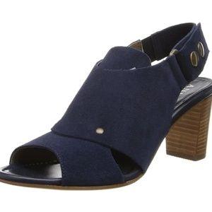 Anyi lu Athena dress sandal midnight blue suede